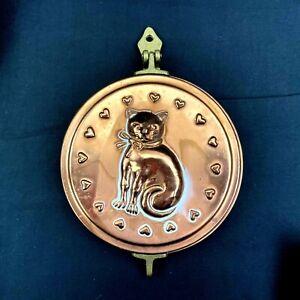Vintage Style Copper & Brass Cat Key Holder Key Hideaway Decor Wall Hanging