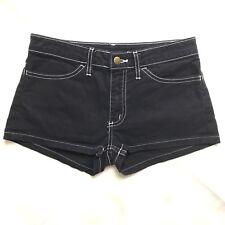 Women's Denim Shorts American Apparel Short Short Black Blue Jeans Booty Size 25