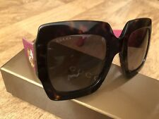 Gucci lunettes de soleil femme GG0102S 003 Dark Havana Brown Gradient Pink Temples