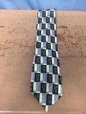 VERDE Silk Tie Blue Grey Tan Designs 92 FREE SHIPPING