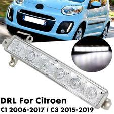 6 LED Daytime Running Light DRL Clear Lens For Citroen C1 2006-17 C3 2015-19