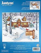 Cabin In The Winter Woods Cross Stitch Kit Janlynn