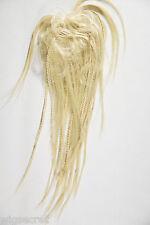 Medium Blonde Grey Brunette Red Braided Scrunchies Hair Pieces Skinny Braids