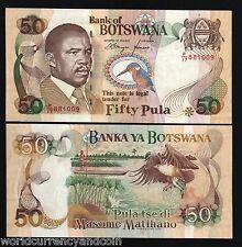 BOTSWANA 50 PULA P19 1997 BOAT KING FISHER ZEBRA FISH EAGLE UNC RARE AFRICA NOTE