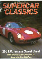 SUPER CAR CLASSICS MAGAZINE - July 1989