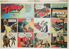 Terry and the Pirates by Caniff - large half-page Sunday comic - Nov. 27, 1938