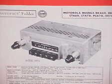 1955 1956 1957 CHEVROLET BELAIR CONVERTIBLE BUICK PONTIAC RADIO SERVICE MANUAL
