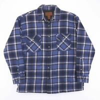 Vintage ST JOHN'S BAY Blue Check Flannel Lined Lumberjack Shirt Size Men's Large