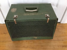 Vintage  Dog Cat Pet Cage Carrier Crate cardoard green medium 16x12x9