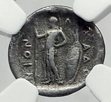 PHARKADON THESSALY 420BC Authentic Ancient Silver Greek Coin ATHENA NGC i65205