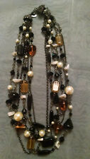 Lia Sophia  6 Strand Necklace w/ Pearls Beads and Stones