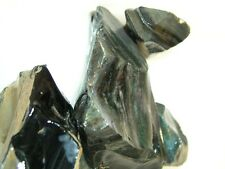 Rainbow velvet obsidian natural mine rough Mexico 1/4 pound lots 1 to 3 pieces