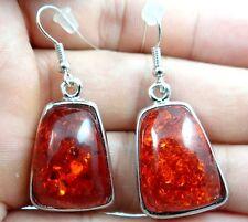 Precious Modernist amber Handmade Gemstone Jewellery earrings HE18
