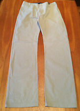 "REISS Mens Grey 100% Cotton Getty Loose Fit Casual Pants 30"" Waist 113cm Length"