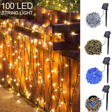 Solar Powered 100/200/00 LED String Fairy Lights Garden Outdoor Xmas