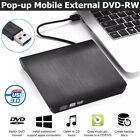 Slim External USB 3.0 DVD-RW CD-RW Writer Drive Burner Reader Player For Laptop