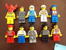 Lego Original ~ Mixed Lot Of 10 Minifigures Town City Space Police Men People #e