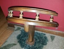 Fine Vintage Mid Cen Mod Dark Wood Rounded/Gated/Spindled Wall Display Shelf!