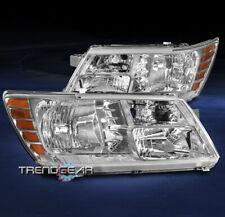 FOR 2009-2019 DODGE JOURNEY SUV REPLACEMENT HEADLIGHT LAMP CHROME TRIM LH+RH SET