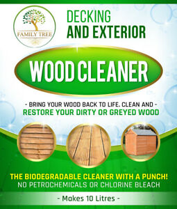 Decking And Exterior Wood Cleaner- Clean And Restore Your Greyed Deck Shed Fence