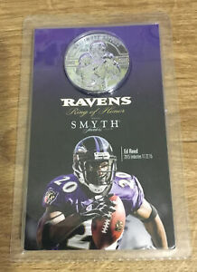 Baltimore Ravens HOFer Ed Reed Ring of Honor Smyth Jewelers Coin 2015 Inductee