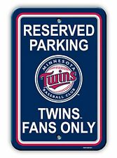 "MLB Baseball Minnesota TWINS 12"" x 18"" Reserved Parking Sign by Fremont"
