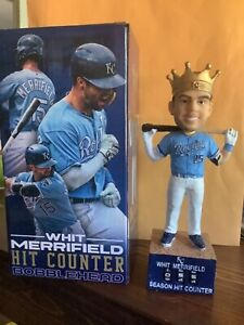 "Whit Merrifield ""Hit Counter"" Bobblehead, 2021, NIB, $42.99, Free Shipping."