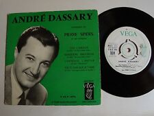 """ANDRE DASSARY : Toi l'amour (orch PIERRE SPIERS) 7"""" EP VEGA V 45 P 1876 centreur"""