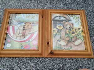 Wooden Framed Teddy Bear Pictures