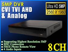 5MP 8CH XVR DVR H264+ 2560x1960 4in1 TVI AHD CVI Free phone P2P Free App