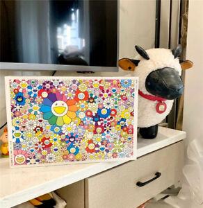 1000PCS Murakami Takashi Sunflower Flower Jigsaw Puzzle Exhibition KidToy Gift