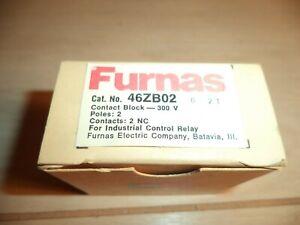 FURNAS 46ZB02 2 POLE CONTACT BLOCK 300V NOS NEW IN BOX FREE SHIPPING