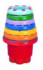 TOLO Set of 7 Rainbow STACKING & NESTING CUPS Learn SHAPES & COLOURS New
