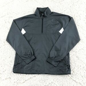 Vintage Y2K Nike Golf Women's Medium (8-10) Storm Fit 1/4 Zip Windbreaker Jacket