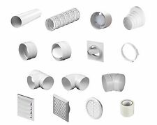 PVC Ventilation Fitting for Extractor Fans - Elbow / Duct / Connector / Reducer