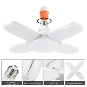 LED Garage Light E27 Bulb Deformable Ceiling Fixture Workshop Lights Lamp M7A5