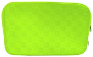 Louis Vuitton Lime Neon Green Damier Infini Toiletry Pouch Cosmetic Case 863022