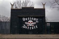Outlaws MC Detroit  Biker 8 x 12 Photographic Print Signed Donald Jones
