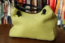 CARACTERE Women's 100% Cotton Green Beach Bag Free P&P Italy made New with tags