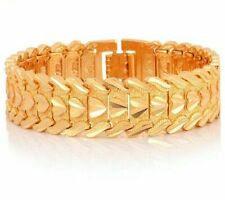 Wristband 17MM 20CM Chunky Big Chain Bracelets Bangles For Men Fathers Day