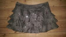 Size 8 Top Shop khaki sequinned rara skirt