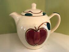 """unmarked ? Francescan vintage 8"""" ceramic multi color large tea pot"""