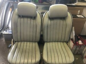 1991 ORIGINAL NISSAN FIGARO COMPLETE FRONT SEATS X 2. GOOD CONDITION.