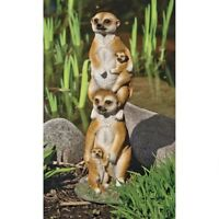 Desert Stacked Meerkat Family Statue Yard Garden Home Sculpture