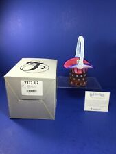 2001 Fenton Art Glass Stars & Stripes Collection Top Hat Basket Limited Edition