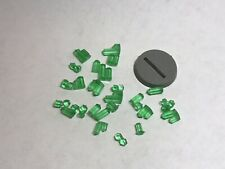 Large Transparent Green Resin Crystals For Basing - Warhammer Age Of Sigmar 40K