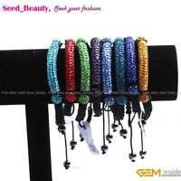Pave Beads CZ Crystal Clay Rhinestones Tube Beads Bracelet Fashion Jewelry Gift