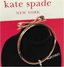 NEW Kate Spade Love Notes Large  Bow Rose Gold Bangle Bracelet + dustbag