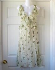 NWOT Studio M Rose Pattern 100% Silk Dress Size S