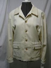 Ralph Lauren Lauren Jeans Co Women's Corduroy Cream Jacket Large NWT $179